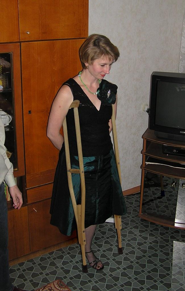 image Amp girl crutching 1