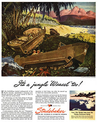 1945 Studebaker Weasel Personnel Carrier (Tom Simpson) Tags: vintage advertising wwii transport ad advertisement worldwarii 1940s weasel studebaker 1945 armoredvehicle vintagead personnelcarrier