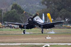 F4U-5N VH-III 12 (joolsgriff) Tags: airshow corsair chance warbird 2016 vought tyabb f4u5n 124493 ytya fah603 peninsulaaeroclub vhiii
