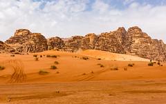 Tracks Across the Desert - Wadi Rum (BlueVoter - thanks for 1.3M views) Tags: sand desert wadirum jordan
