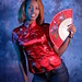 DSC_0267 Somali Lady Portrait Red Chinese Silk Mandarin Dress  Shoreditch Studio London
