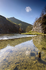 Dovedale Reflections (John__Hull) Tags: uk england sky cloud nature landscapes waterfall spring still nikon view stones district derbyshire breath sigma peak tourists filter stepping nd taking 1020mm graduated dovedale d3200