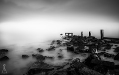 ROCKSCAPING (Laws Photography | www.lawsphotography.com) Tags: ocean old longexposure sea blackandwhite bw white seascape black rock canon landscape outdoors rocks long fineart le groynes ndfilter neutraldensityfilter longshutterexposure blackandwhitefineart canon6d nd10stop lawsphotography vaughanlaws longexposurebwfineart