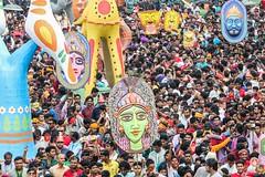 Mongol Shovajatra 01 (ronysyful) Tags: people color mask folk rally culture lifestyle newyear celebration dhaka tradition bangladesh mongol bangladeshi boishakh charukola mongolshovajatra shobhajatra
