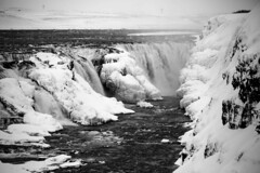 Gullfoss Waterfall (GPhace) Tags: travel vacation blackandwhite bw canon iceland europe 70300mm naturephotography 2016 travelphotography landoffireandice gullfosswaterfall gullf 5dmiii