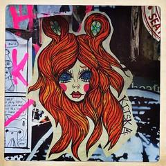 Pike Place Street Art (Chris Blakeley) Tags: seattle streetart graffiti wheatpaste pikeplacemarket hipstamatic