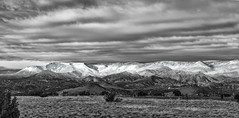 Snowline on the Jemez Foothills (LDMcCleary) Tags: blackandwhite foothills snow newmexico topf25 moutains abiquiu snowline jemezmountains medanales