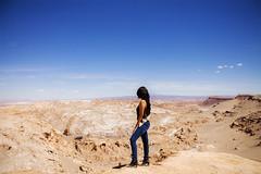 Black boots (Stephanie Macs) Tags: chile travel sky woman tourism southamerica nature girl trekking landscape outdoors sand rocks desert dunes exploring salt dry canyon explore valley traveling
