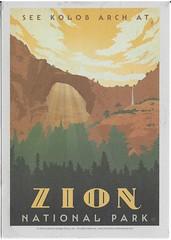 UT - Zion National Park (kandilareyna) Tags: poster postcard lp adg andersondesigngroup lanternpress