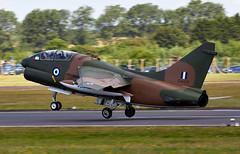 A-7 Corsair II (Bernie Condon) Tags: uk tattoo plane greek flying fighter display aircraft aviation military jet airshow ii corsair bomber a7 warplane airfield ffd fairford haf raffairford airtattoo ltv