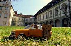 Danbo on tour (Spookyfilm) Tags: toys miniature danbo benediktbeuern klosterbenediktbeuern danboard toysphotography
