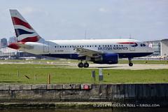 British Airways A318 ~ G-EUNB ( Freddie) Tags: london airbus ba britishairways londoncityairport ba1 newham e16 a318 lcy royaldocks eglc runway27 speedbird1