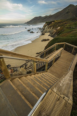 IMG_6858 (Five-Alive) Tags: ocean california longexposure sea beach stairs bigsur