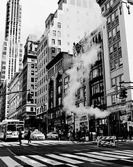 New York street chimney #blackandwhite #teamcanon... (kristymartinphotography) Tags: blackandwhite manhattan steam tcc crosswalk 5boros teamcanon canon70d uploaded:by=flickstagram thecreatorclass seeyourcity canonbringit instagram:photo=12291560130394319752013464107