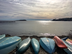 Canoes on the North Shore (Robert Kendall) Tags: ocean usa water unitedstates massachusetts newengland canoes gloucester