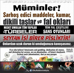 Kerim Kur'an 5-90 (Oku Rabbinin Adiyla) Tags: gambling drunk fun god drink islam religion east idol bible allah verse kuran ayet ayetler