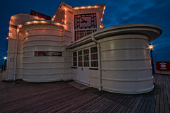 Worthing Pier After Sunset (Dave Sexton) Tags: west art clock night lights sussex pier worthing pentax deco f28 k1 14mm samyang
