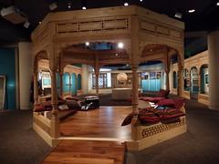 Gazebo at the Turquoise Mountain exhibit (dlge) Tags: afghanistan washingtondc woodwork museums woodcarving gazebos sacklergallery turquoisemountain