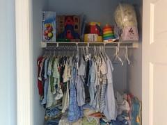 Nursery Closet with Baby Clothes (brownpau) Tags: baby home closet nursery clothes iphone5s