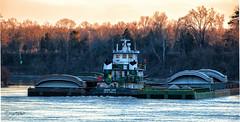 SwingingWideD90-029204CEPw (PhotosByGil) Tags: tugboat tug barge barges tenntom tenntomwaterway tennessetombigbeewaterway