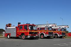 Out of Service (adelaidefire) Tags: fire volvo south australian company international service sa metropolitan harvester acco ih mfs 0127 0128 samfs 0095 skyjet
