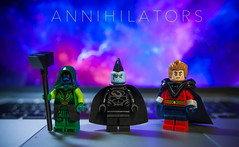 [Lego Marvel] The Annihilators (Jonathan Wong Photography) Tags: comics lego space wave bands galaxy weapon empire universal minifigs superheroes ronan custom marvel cosmic gladiator guardians the quasar minifigures annihilation accuser shiar purist of annihilators kallark figbarf
