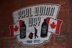 Paul Quinn Way (theharv58) Tags: lightandshadows doors photographers painters catwalk graffitiart canon60d artinvariousforms canoneos60d canonefs18200mmislens bonsaiart canonefs18200mm13556islens topwpkdl topwpkdltorontophotowalkparkdale