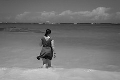 Her In The Domincan BW (R P M Photography) Tags: trip trees vacation hot beach water beautiful john fun photography sand warm pretty dominican republic dr sandy relaxing sunny palm m international r punta tropical p canta rpm hollingsworth raechelle