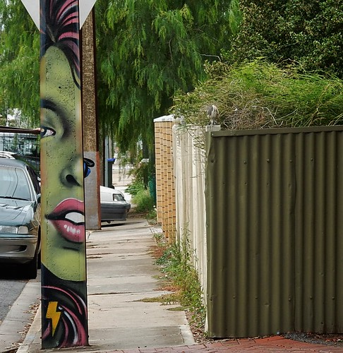 Lips on the Footpath