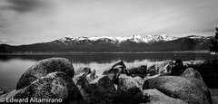 The Rocks and The Lake on the peninsula (EdwardA57) Tags: blackandwhite lake beauty landscape nikon awesome tahoe laketahoe northshore serenity sierranevadas sandharbor d3200