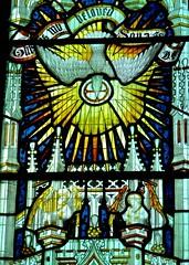 Retford - St Swithun's - Kempe Glass (Glass Angel) Tags: tower stainedglass nottinghamshire retford kempe stswithun