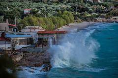 Wild sea (Vagelis Pikoulas) Tags: sea beach canon landscape spring europe waves view wave greece porto april tamron wavy vc 6d 70200mm 2016 germeno