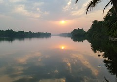 Sunrise (radhkrishna) Tags: sun reflection nature clouds sunrise river kerala kannur payyanur ramanthali ezhimala