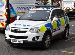 KV63VVF (Cobalt271) Tags: proud 22 4x4 police northumbria vehicle to protect vauxhall response livery antara cdti kv63vvf