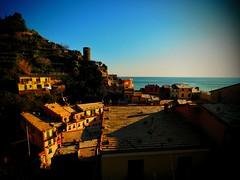 Sunset over Vernazza (StefanJurcaRomania) Tags: italien sunset italy italian italia dorf village tuscany terre cinqueterre sat toscana vernazza cinque toskana italienisches