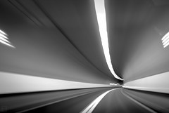 (Emilien Gass) Tags: road longexposure light blackandwhite abstract canon tunnel 550d tokina1116mm