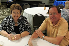 """Ann and Boyd Bennett at the opening day of the district conference.Photo credits: Ed SmallwoodMore information: <a href=""""http://northraleighrotary.org/2016-district-conference"""" rel=""""nofollow"""">northraleighrotary.org/2016-district-conference</a>"""