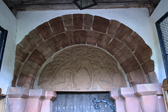 Romsley, Worcestershire, St. Kenelm's church, south door (groenling) Tags: uk greatbritain england stone angel dragon christ britain jesus stonecarving carving porch gb worcestershire entry majesty braid worcs tympanum mandorla romsley southdoor stkenelmschurch