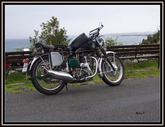 Velocette (1952) (marj.p. (Catching up!!)) Tags: classic wales vintage velo harlech motorcycling 1952 classicmotorcycle vintagemotorcycle fishtail velocette classicbike vmcc 1952velocetteroadbike