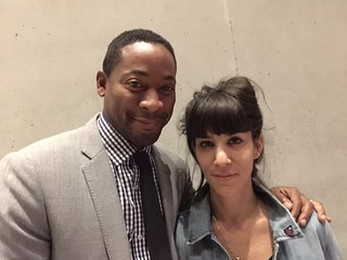PAMM Director Franklin Sirmans with artist Augustina Woodgate