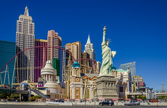 New York New York (Preston Ashton) Tags: blue sky usa newyork sunshine statue america skyscraper liberty hotel us day traffic nevada sunny casino resort strip roller northamerica rollercoaster statueofliberty coaster newyorknewyork lasvegasstrip prestonashton