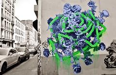 Ludo_8584 rue Saint Maur Paris 11 (meuh1246) Tags: streetart paris fleur ludo ruesaintmaur paris11