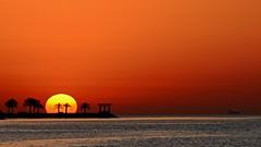 2016 Earth Day Sunrise (Sanjiban2011) Tags: morning sun nature water sunrise landscape dawn nikon waterfront outdoor horizon earlymorning corniche tamron doha qatar earthday d7100 tamron70200