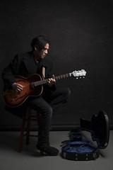 Fair Coyote (HumpPhoto.com) Tags: portrait blackbackground canon studio 50mm guitar strobist humphriesphotography