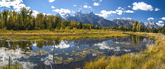 Reflections in Paradise (E.K.111) Tags: panorama mountain nature river nationalpark outdoor pano wilderness grandteton peacefulness ptgui canon5dmarkiii lightroom5