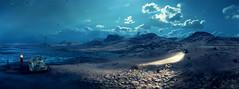 Moonlight road (Sspektr) Tags: panorama death pc screenshot disaster videogame madmax wasteland postapocalypse madmaxgame