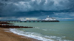 Eastbourne Pier | East Sussex | United Kingdom (Jamie Dean) Tags: sea sky panorama beach water architecture clouds pier waves waterfront pano stormy eastbourne groynes