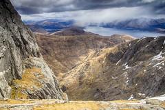 Garbh Bheinn cliff-face (OutdoorMonkey) Tags: cliff cloud mountain outside scotland countryside scenery view outdoor scenic loch viewpoint corbett ardgour lochlinnhe garbhbheinn
