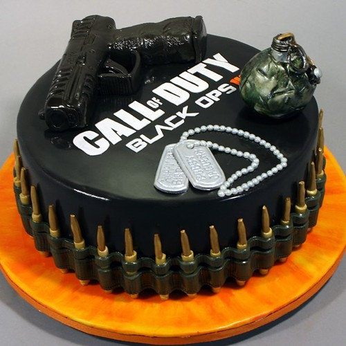 Excellent Call Of Duty Black Ops Iii 14Th Birthday Cake A Photo On Flickriver Personalised Birthday Cards Akebfashionlily Jamesorg