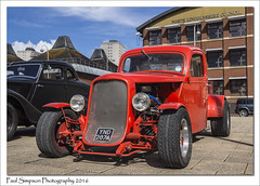 Red Hot Rod (Paul Simpson Photography) Tags: red classic car sunshine spring classiccar bluesky lincolnshire hotrod scunthorpe redcar motorcar churchsquare northlincolnshire imageof imagesof sonya77 paulsimpsonphotography photosofhotrods photosofniceweather